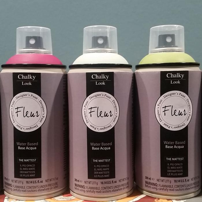 pintura en spray efecto tiza mate fleur 300 ml