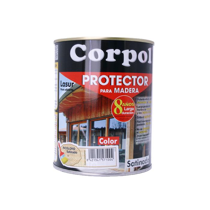 CORPOL PROTECTOR  EXTERIOR  CASTAÑO SATINADO 750 ML
