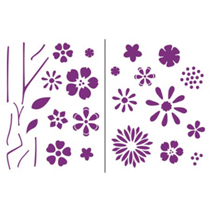 Plantillas de flores para pintar affordable dibujos y - Plantillas de mariposas para pintar ...