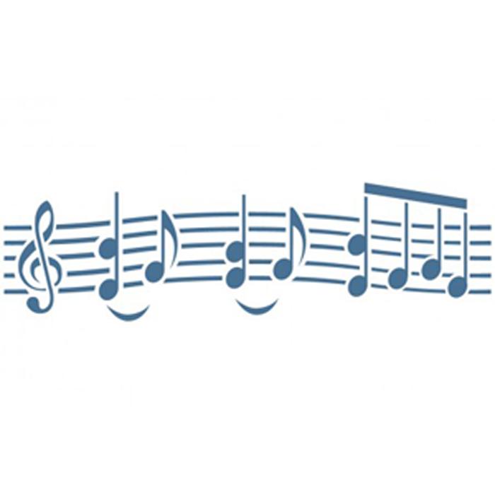 CENEFA ADHESIVA REUTILIZABLE MUSICA 15 X 40 CM.