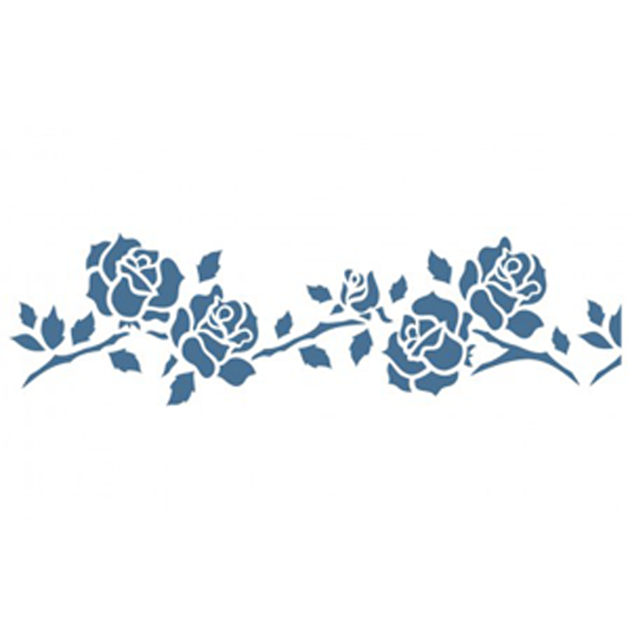 Cenefa adhesiva reutilizable rosas 15 x 40 cm - Plantillas cenefas para pintar ...