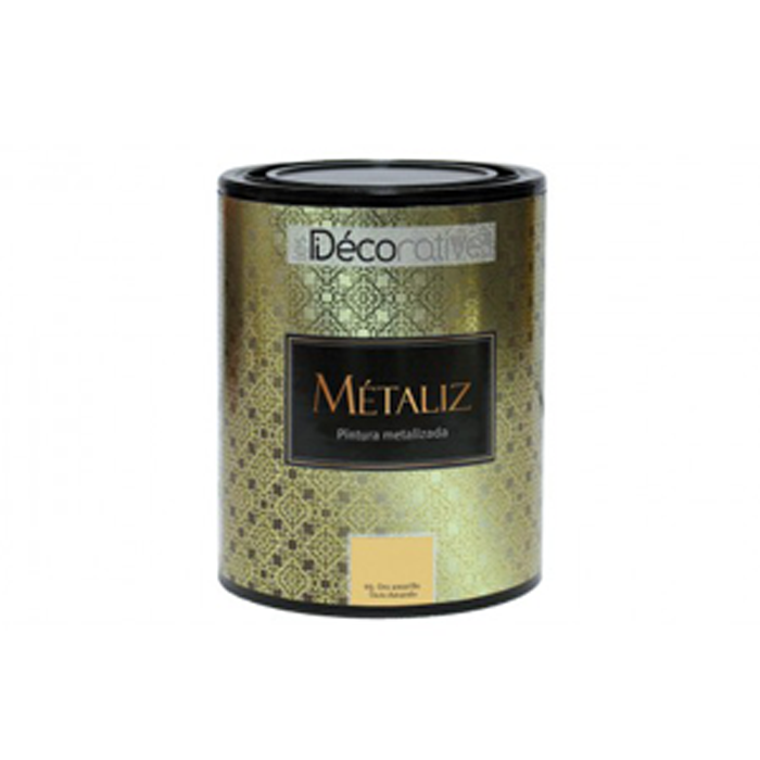 PINTURA METALIZADA DE PARED METALIZ LES DECORATIVES 1 LT.