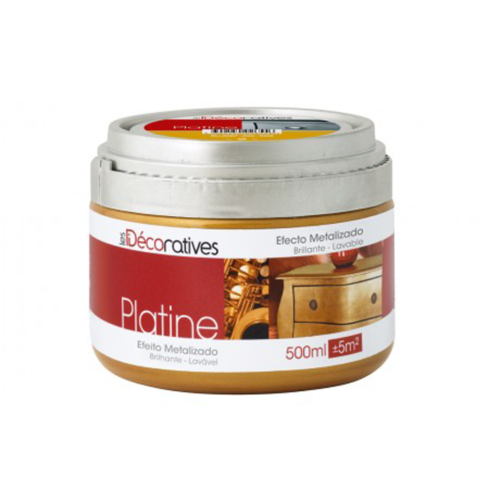 PINTURA PARA MUEBLES DORADA O PLATEADA PLATINE LES DECORATIVES 500 ML